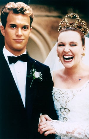 Daniel Lapaine and Toni Collette in Muriel's Wedding.