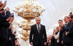Vladimir Putin in the Kremlin before his swearing-in
