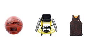 From left: Spalding NBA Grip Control basketball, £38.92, amazon.co.uk; RGK Club Sport wheelchair, from £1,332, gblwheelchairs.com; Quickie ratchet strap, £77, epc-wheelchairs.co.uk.