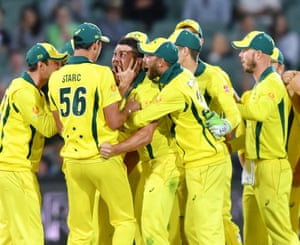 Marcus Stoinis was Australia's key man as they claimed a rare ODI victory over South Africa.