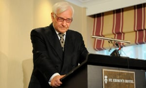 Harvey Proctor at a press conference in August, where he insisted he was completely innocent.