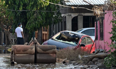 Flooding and storm damage in La Lima, in the Honduras department of Cortés.