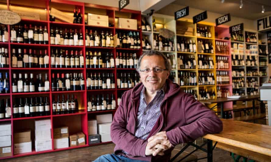 Owner of Thirsty wine shop/bar, Sam Owens, Cambridge.