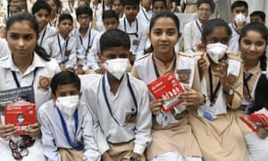 The Delhi government plans to distribute pollution masks to to all schoolchildren.