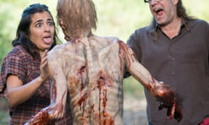 Alanna Masterson and Greg Nicotero - The Walking Dead _ Season 5, Episode 12