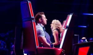 Danny Jones (left) and Pixie Lott, judges on The Voice Kids