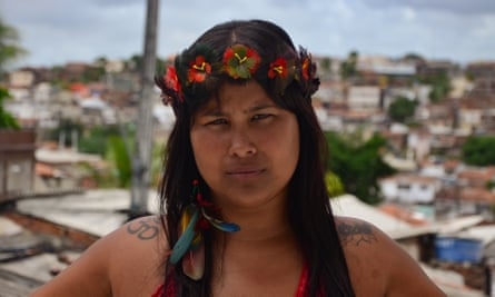 'Our country is divided between those who stand for living well, and those who want to steal it from us' … Kaê Guajajara.