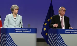 Theresa May and European commission president Jean-Claude Juncker announce in Brussels that they had reached a deal.