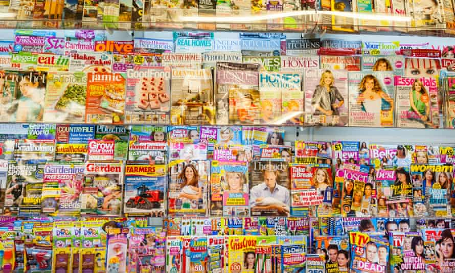 magazines at a newsagent's.
