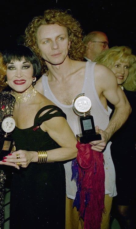 Brent Carver, right, after receiving his Tony award in 1993, with his co-star Chita Rivera.