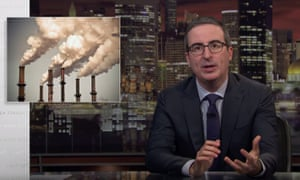 John Oliver: 'We've universally agreed that polluting is bad and yet, it's free to do it.'