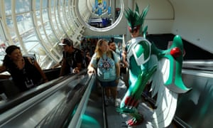 Alex Kapelski of Ohio rides the escalator