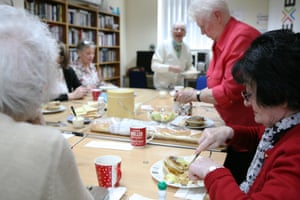 Over-55s have lunch at the Annexe community centre