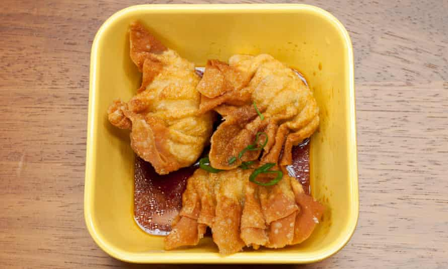 'Gasp, belch and dribble': fish wontons.