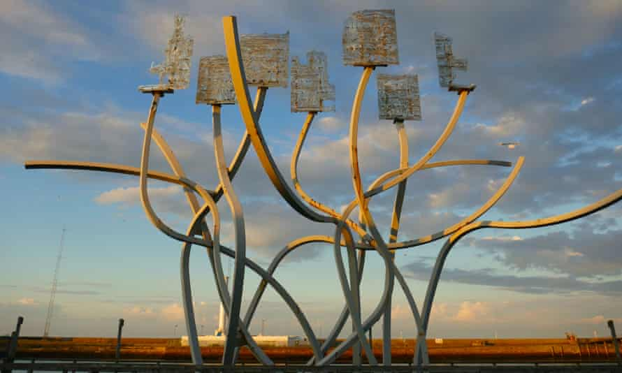 Spirit of the Staithes sculpture, Blyth, Northumberland, UK