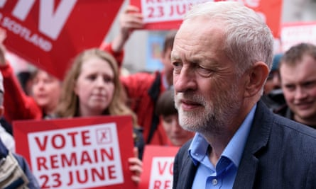 Labour leader Jeremy Corbyn during a visit to Aberdeen in Scotland, as he campaigns for a remain vote in the EU referendum.