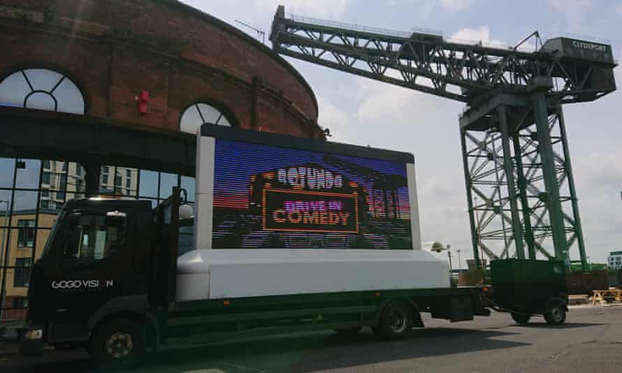 'A world first' … the Rotunda drive-in comedy event, Glasgow