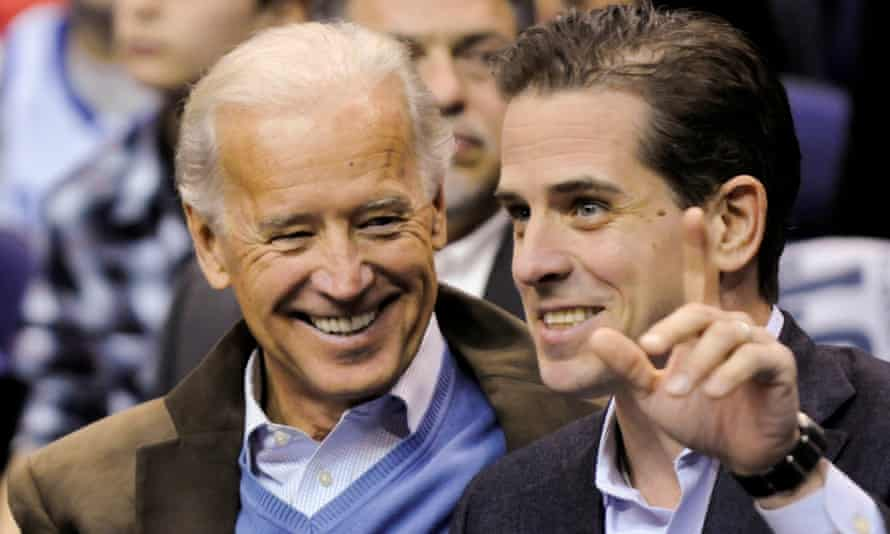 FILE PHOTO: U.S. Vice President Biden and his son Hunter attend an NCAA basketball game between Georgetown University and Duke University in Washington<br>FILE PHOTO: Then-U.S. Vice President Joe Biden and his son Hunter Biden attend an NCAA basketball game between Georgetown University and Duke University in Washington, U.S., January 30, 2010. Picture taken January 30, 2010. REUTERS/Jonathan Ernst/File Photo