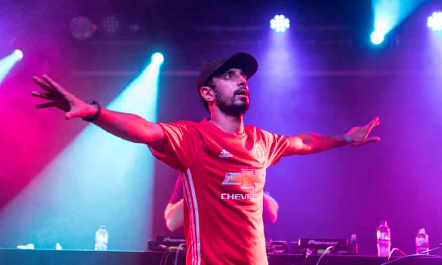 Riz Ahmed performing with Swet Shop Boys.