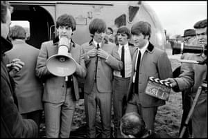 The Beatles during filming of A Hard Day's Night, London, 1964