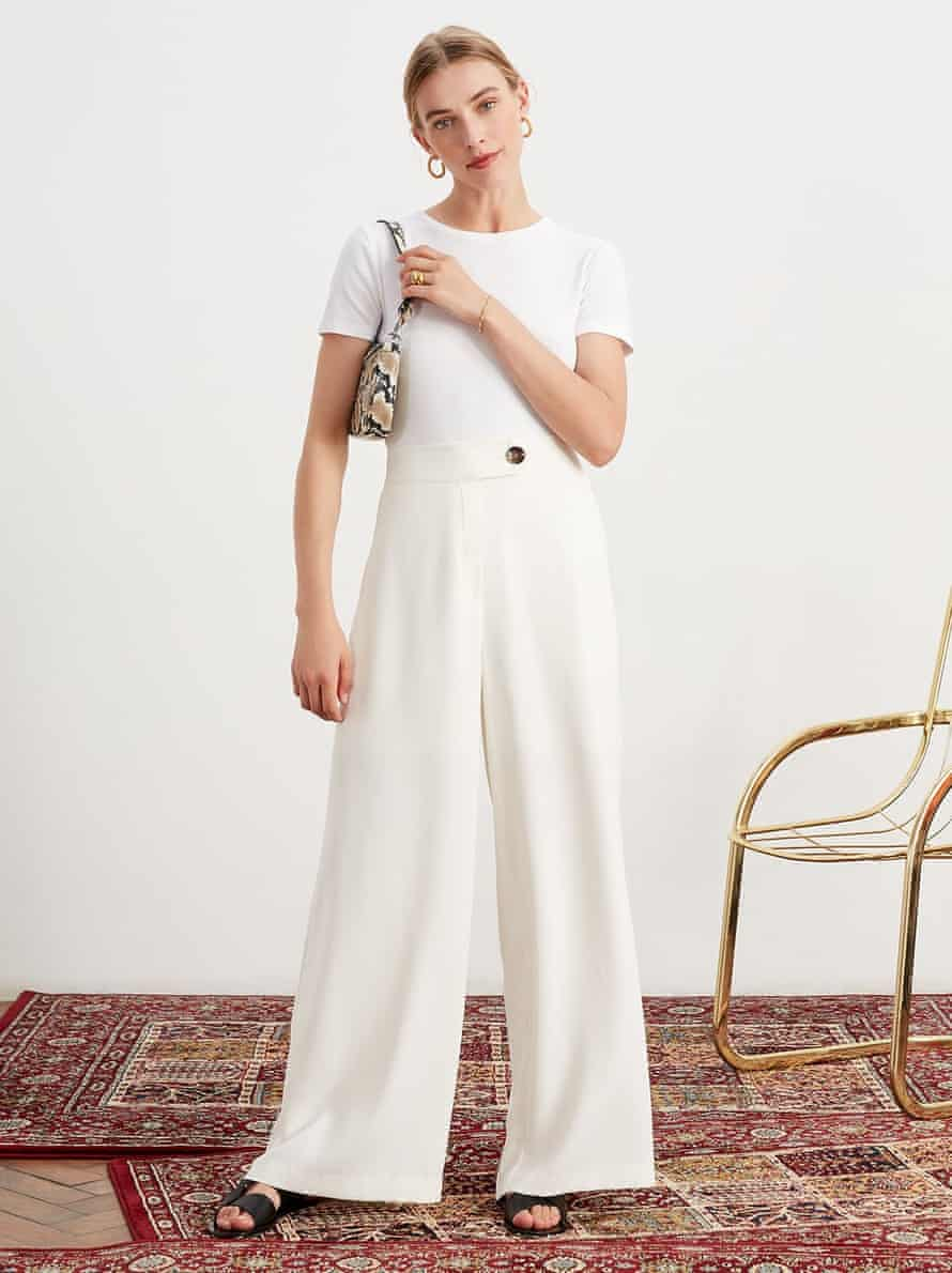 Aretha Wide Leg Trousers Front by KITRI Studio 1000x.
