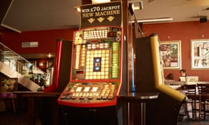 Some fixed-odds betting machines.