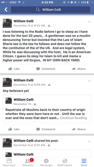 Celli called for Muslims to be returned to their 'country of origin'.