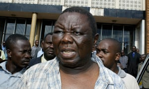 Morgan Tsvangirai after being beaten by Zimbabwe security forces in 2007