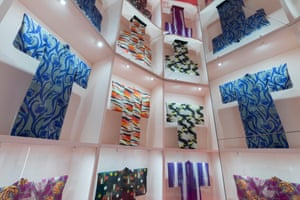An installation view of the V&A's Kimono show.