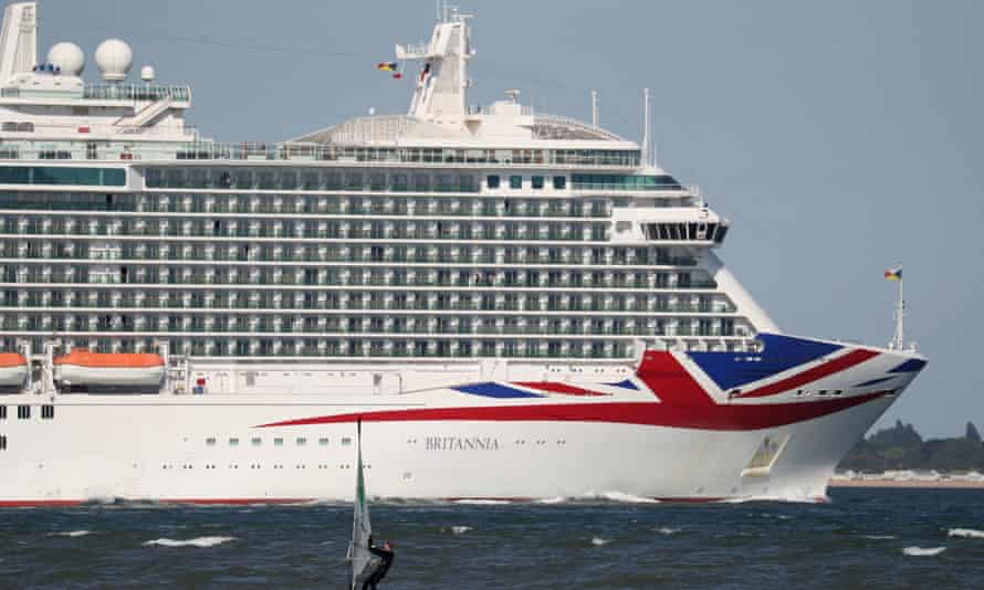 The P&O cruise ship Britannia in the Solent last year.