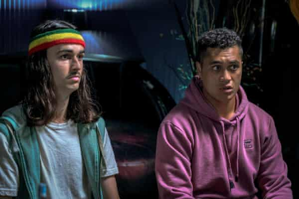 Samuel Austin and James Rolleston as Marvin and Freddy.