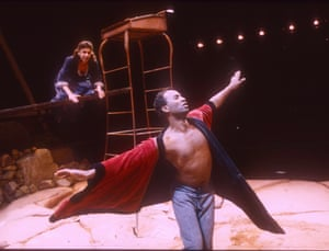 Kathryn Hunter and Patrice Naiambana in Foe at the Young Vi, May 1992.