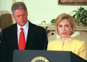 Hillary Clinton said Bill was 'a hard dog to keep on the porch'.