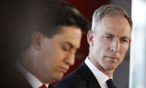 The former Labour leader Ed Miliband. left, and the Scottish Labour leader, Jim Murphy.