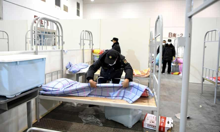 A field hospital in Wuhan