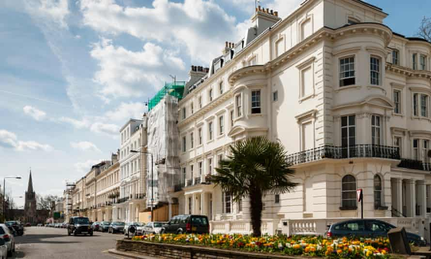 Buildings in the London borough of Kensington and Chelsea, where annualised house price inflation hit 28.6% in November.