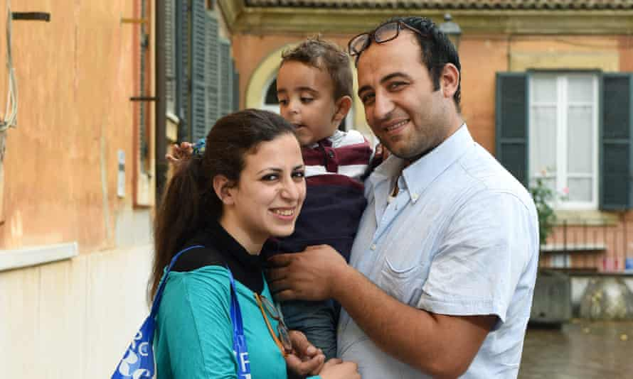 Nour Essa, Hasan Zaheda and the two-year-old son Riad