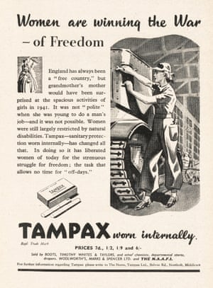 A Tampax magazine advert from 1942.