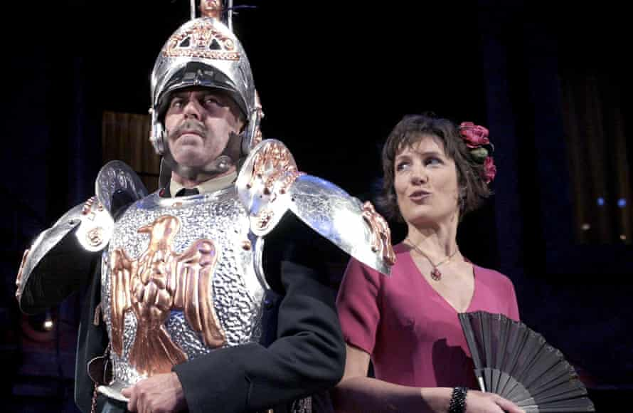 Harriet Walter with Nicholas Le Prevost in Much Ado About Nothing at the RSC in 2002
