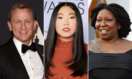 Daniel Craig, Awkwafina and Whoopi Goldberg