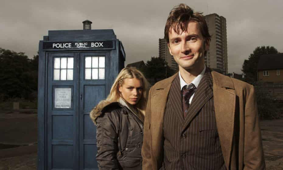 The glory days ... David Tennant and Billie Piper as the Doctor and Rose Tyler.