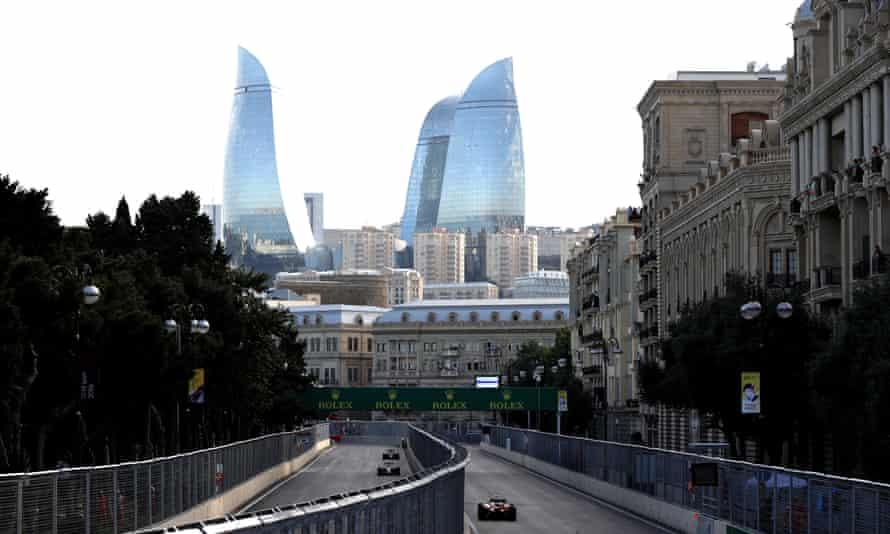 The Formula 1 Grand Prix racing through Baku in June.