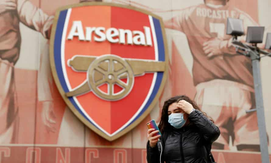The scene at Arsenal, earlier.
