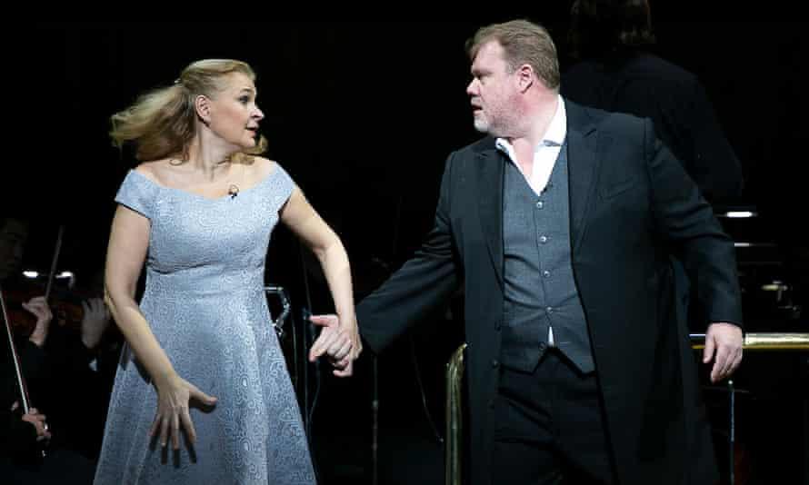 Formidable … Ruxandra Donose (Sieglinde) and Stuart Skelton (Siegmund).