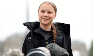 Greta Thunberg Sails Carbon-neutral Yacht To New YorkPLYMOUTH, ENGLAND - AUGUST 14: Climate change activist Greta Thunberg speaks at a press conference before setting sail for New York in the 60ft Malizia II yacht from Mayflower Marina, on August 14, 2019 in Plymouth, England. Greta Thunberg is a teenage activist born in Sweden in 2003. She began protesting outside the Belgian Parliament aged 15 and started the School Strike for Climate movement which has gained global popularity seeing school students campaigning against Climate Change on Fridays instead of attending their lessons. Greta has stopped flying as the aviation industry is responsible for 12% of CO2 emissions from all forms of transports. Once in New York she will attend a climate change conference. (Photo by Finnbarr Webster/Getty Images)
