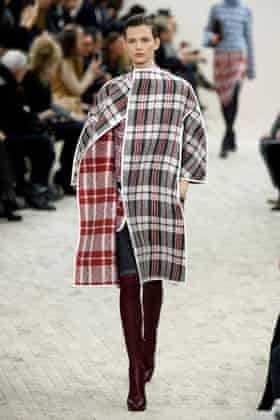A riff on the laundry bag, a model for Céline's AW13/14 collection.