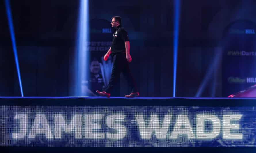 James Wade heads to the stage.