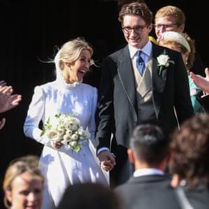 Ellie Goulding and Caspar Jopling on their wedding day in York in 2019.