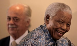George Bizos, with Nelson Mandela in 2008. He helped draft South Africa's new constitution, which came into law in 1996.