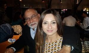 Zarina Mahmood with her late father Sayed Mohamed Kadri.